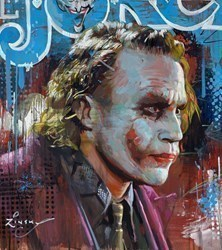 Joker II by Zinsky -  sized 21x24 inches. Available from Whitewall Galleries